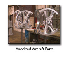 Anodized Aircraft Parts